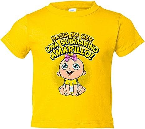 Camiseta niño nacida para ser una Submarino Amarillo Villarreal fútbol - Amarillo, 3-4 años: Amazon.es: Bebé