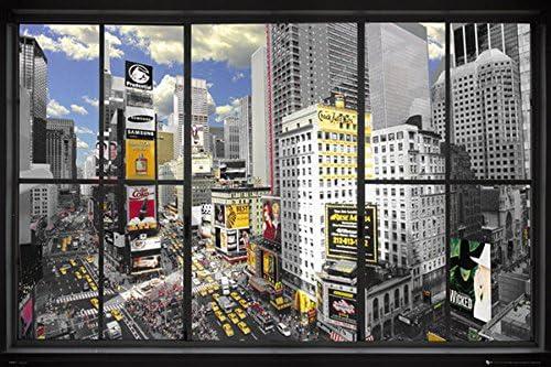 TRAVEL POSTER New York Window