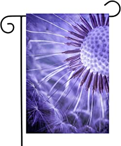 Pooizsdzzz Purple Dandelion Core Festival Garden Flag Front Door Flag Decorative Home Outdoor Flag 1218 Inch