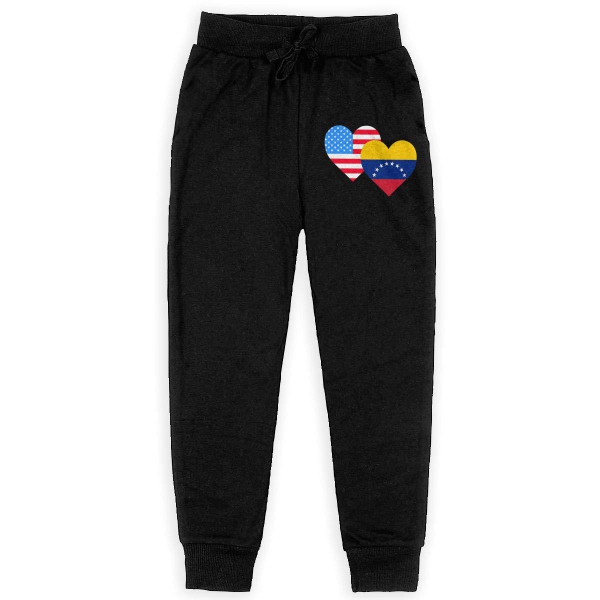 Girls Jogger Pants for Teenager Girls WYZVK22 American Venezuela Hraet Flag-1 Soft//Cozy Sweatpants