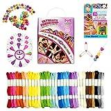 Mira HandCrafts 100 Piece Friendship Bracelets | DIY Starter Kit with 20 Bracelet Patterns E-Book | Kids Jewelry Making Kit | Perfect Bracelet Set