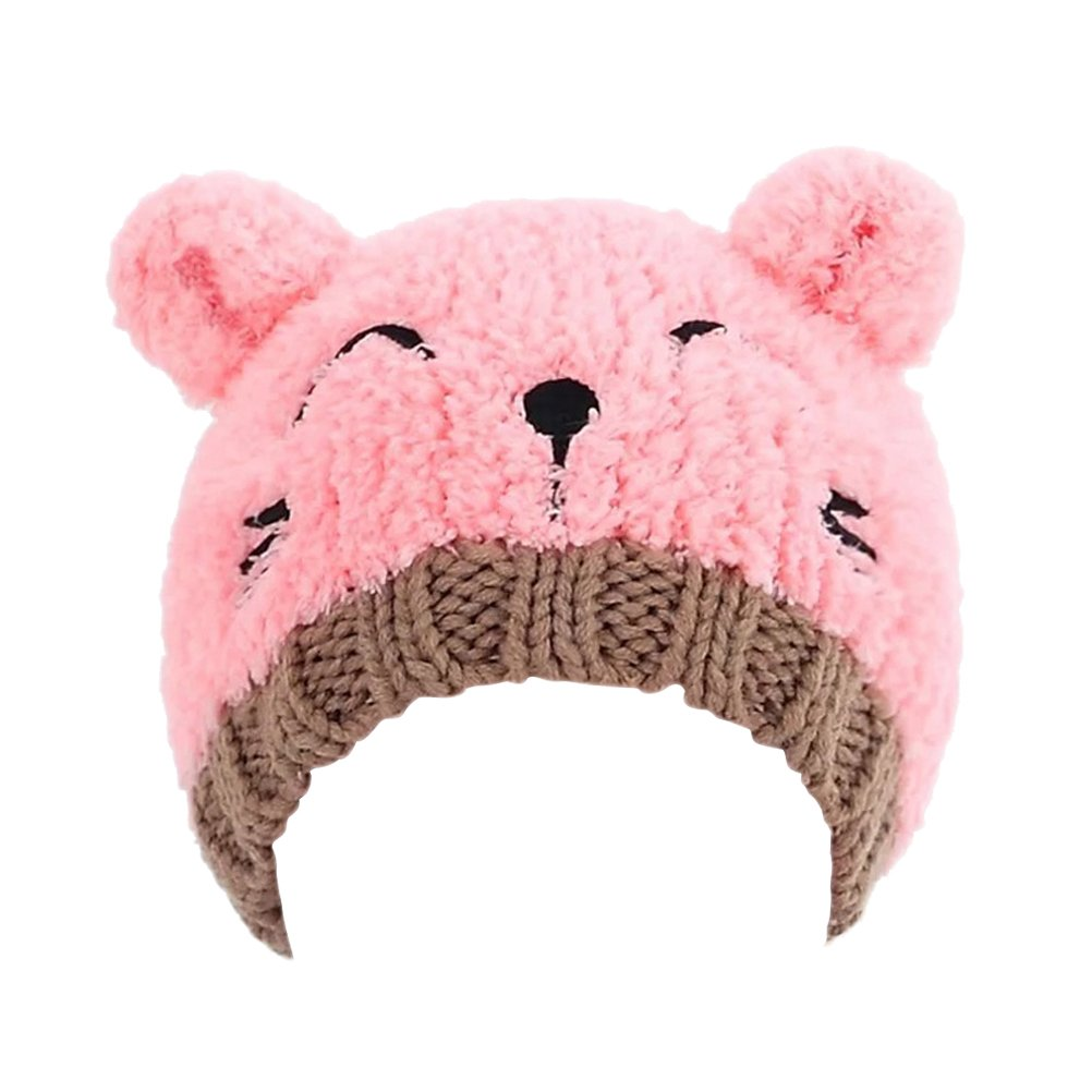 Baby Fashion Bear Design Infant Winter Warm Hat Crochet Knitted Hat Beanie Cap(Pink) at Amazon Womens Clothing store: