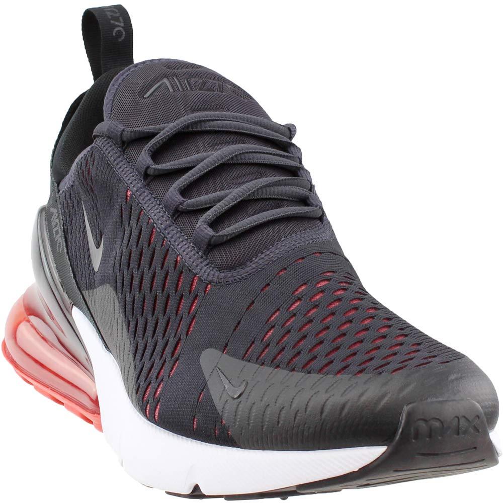 Nike Air Max 270 AH8050-013 Oil Grey/Habanero Red/Black Men's Running Shoes (8.5)