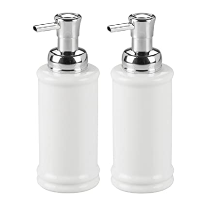 Mdesign Decorative Ceramic Refillable Foaming Hand Soap Dispenser Pump Bottle For Bathroom Vanity Countertop Kitchen Sink Save On Soap
