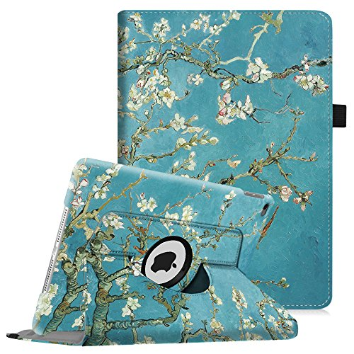 Fintie iPad mini 4 Case - 360 Degree Rotating Stand Case with Smart Cover Auto Sleep / Wake Feature for Apple iPad mini 4 (2015 Release), Blossom