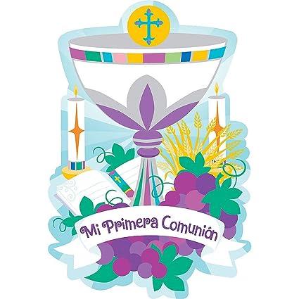 39e972d79 Amazon.com  Mi Primera Comunion My First Communion Party Invitations ...