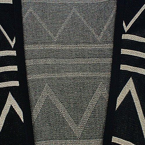 LOCOMO de símbolo de lesbianismo rayas Totem Batwing boleros con cierre de solapa y correa de capa mujer FFJ041BLK Black 041