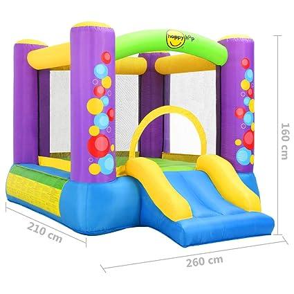 mewmewcat Castillo Hinchable con Tobogán Happy Hop 260x210x160 cm ...