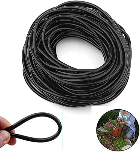 4//7 Hose,White Mini Skater Drip Irrigation Watering Tubing Hose Pipe Distribution or Connectors for Patio,Lawn,Garden