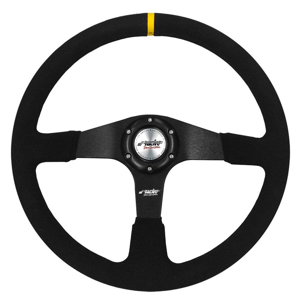 Simoni Racing DEF Universal Steering Wheel, Dia 380 mm, Black Simoni Racing SpA