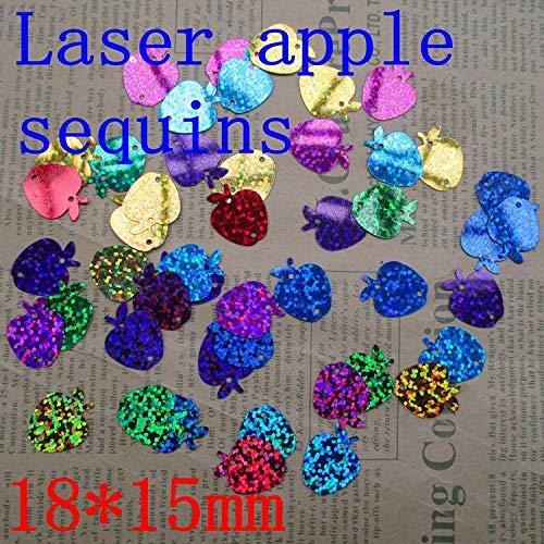 - Jienie 100g/set About 4000 PCS Apple Shape Laser Sequins Accessories DIY Manual 1815mm