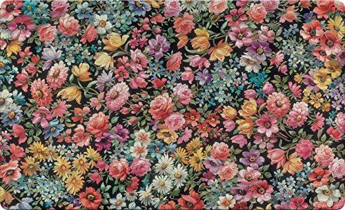 Toland Home Garden Flower Foray 18 x 30 Inch Decorative Floral Collage Floor Mat Spring Summer Doormat