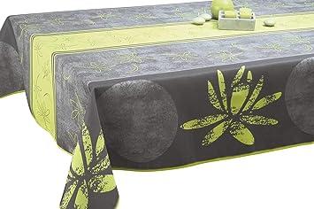Nappe Anti Taches Lotus Anis   Taille : Rectangle 150x300 Cm
