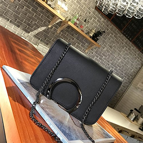 Bags Bag Causal Chain Letter Messenger Ladies Adealink Clutch Black C Crossbody Fashion Leather Handbag Shoulder Women Travel Korean wPxIqa