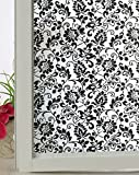 Cheap BigBig Home Lime Flower Pattern Adhesive Free Electrostatic Window Film,3 Sizes Available.(3Ft6.5Ft)