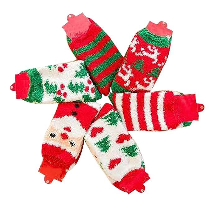 6 pares, Mujer Calcetines de Invierno, Contra el Frío, para Navidad: Amazon.es: Ropa y accesorios