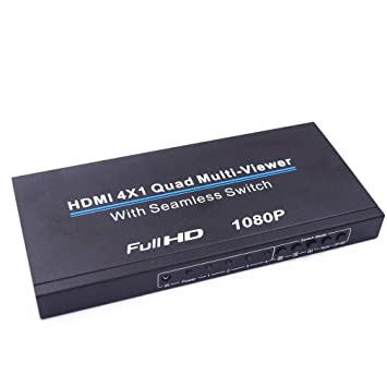XZANTE - Cortacésped Multi-Viewer HDMI 4 x 1 Quad con Interruptor ...