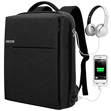 OSOCE Laptop Backpack Business Anti Theft Backpack for Men and Women Slim  Water Resistant Laptop Bag 0110d5b0ac744