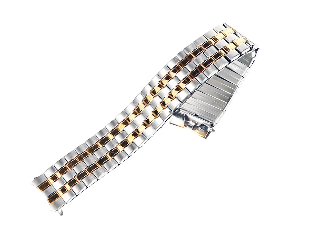 Timex Two-tone Stainless Steel 16mm Watch Band TX752T Fits T2N093