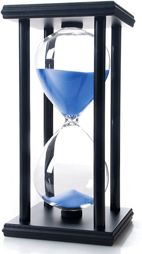 1 2 3 5 Min Round Wooden Sand Timer Hourglass for Kid Reading Game Playing