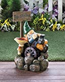 Large ON STRIKE GNOME WATER FOUNTAIN Sculpture Garden Home Patio Decor