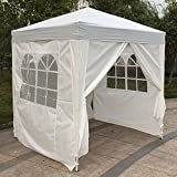 gazebo curtains 12x14 VINGLI 6.6' x 6.6' Instant Folding EZ Pop up Canopy Tent with 4 Removable Panels, Upgraded Thicker Tube, Waterproof Sun Shade UV Protection Patio Gazebo Shed for Father's Day, Hiking, Backpacking