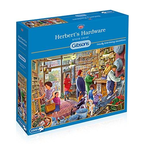 Price comparison product image Gibsons Herbert's Hardware Store - Steve Crisp 1000 Piece Jigsaw Puzzle