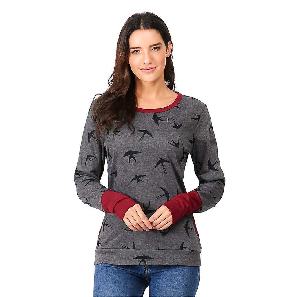 Pregnant Women Hoodies Breastfeeding Maternity Nursing Sweatshirt Jumper Tops UK