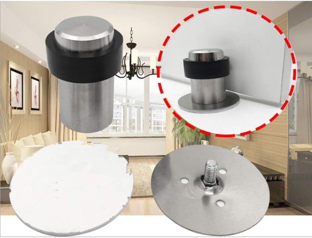 Stainless Steel Door Stop Stopper Holder Catcher Jam Block Fit All Floors 120mm