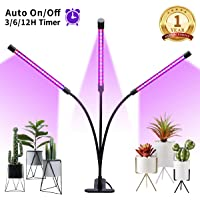 Winjoy Grow Light 30W LED Grow Lamp with 3/6/12H Timer 5 Dimmable Levels (30W Red Blue Full Sperum)