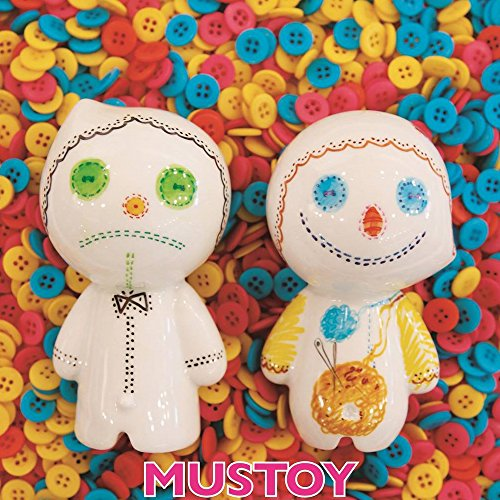 MUSTOY 3D Drawing Art Toy Create Your Own Character, DIY Drawing Porcelain Doll Toy Draw and Erase Repeatable, Boy and Girl Character Set (Muskky + Musppy)