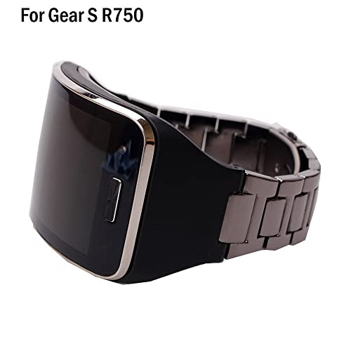 HWHMH 1PC Replacement Stainless Steel Metal Band / Genuine Leather Band Strap For Samsung Galaxy Gear