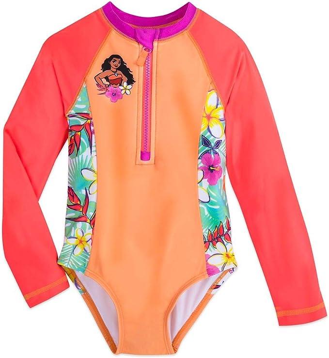 Girls NWT Disney Store Moana Swimsuit 1pc UPF 50