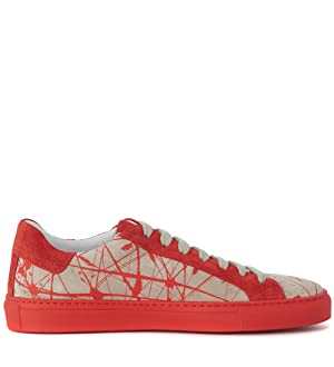 Hide And Jack Sneaker Hide&jack Low Top Mars Rosse E Bianche Red