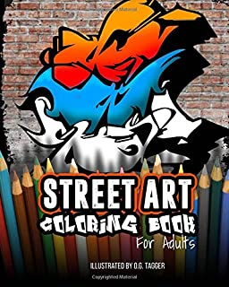 street art coloring book for adults 24 illustrated graffiti designs for adults - Graffiti Coloring Book