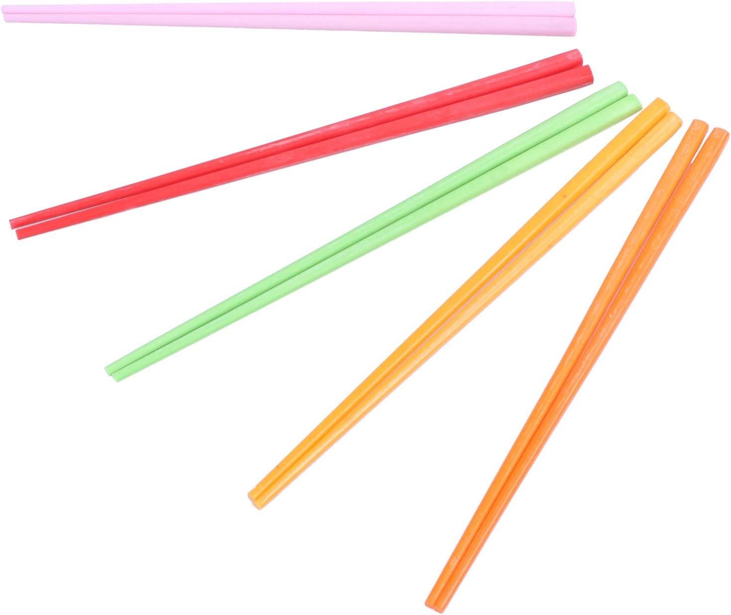 22 cm de largo Beauneo 5 pares de palillos chinos de pl/ástico de colores surtidos