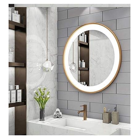 WYQSZ Specchio Moderno Minimalista, Specchio HD, con luci a ...