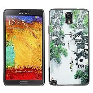 TECHCASE**Cubierta de la caja de protección la piel dura para el ** Samsung Galaxy Note 3 N9000 N9002 N9005 ** China Waterfall River Mountain Village Art