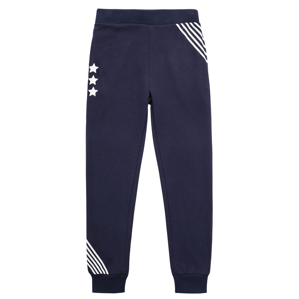 UNACOO Casual Kid Boys Sports Jogger Active Pants (Navy, s(6-7T))