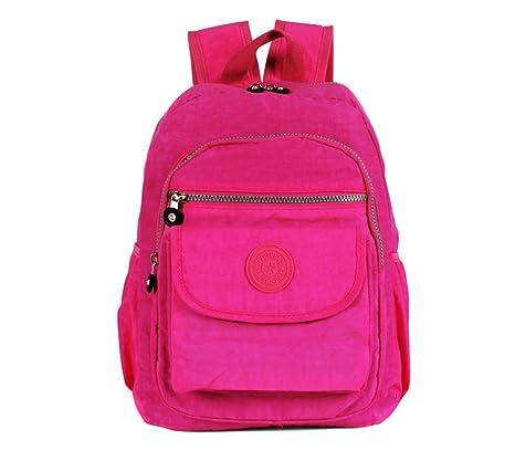 MiCoolker Women and Girls Backpack Water Resistant Travel Backpack  Waterproof School Book Bag Pink 2e33bf5cbca70
