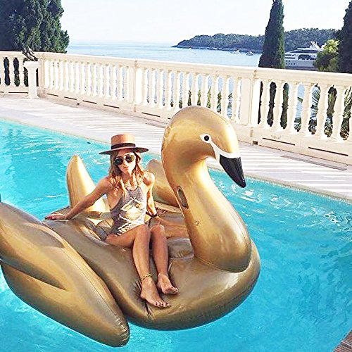 Beach Toy ® - Flotador gigante para piscina de Cisne Dorado, para ...