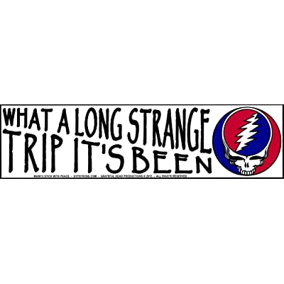 """Gypsy Rose What A Long Strange Trip It's Been - Grateful Dead - Magnetic Bumper Sticker/Decal Magnet (11.25"""" X 3""""): Automotive"""