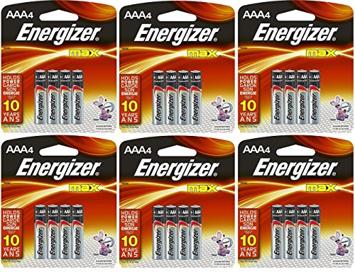 Energizer Batteries AAA4 4 Count Packs
