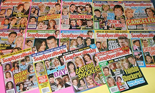 Lot of 14 Soap Opera Weekly Magazines from 2011 [All My Children, One Life to Live, etc.]