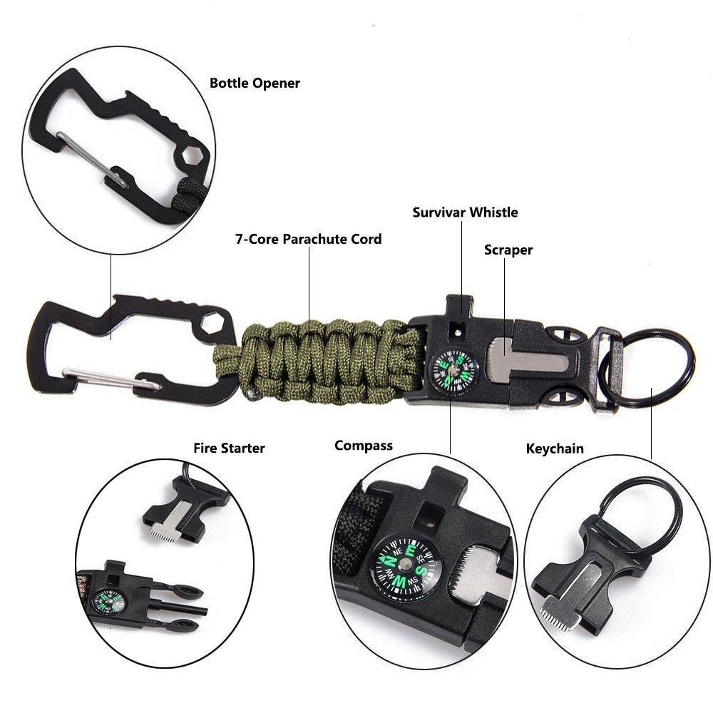 7-Core Paracord Porte-cl/és /Équipement de Sport MansWill Kits de Survie en Plein Air