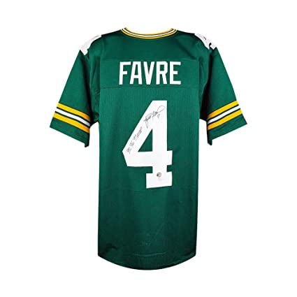 low priced f5e04 17f30 Brett Favre MVP Autographed Green Bay Packers Custom Green ...