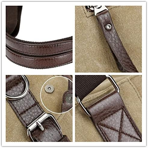 S-cool shop High Capacity Weekend Bag for Outing or Traveling High Quality Durable Handbag Men/'s Valise Sling Messenger Bag coffee