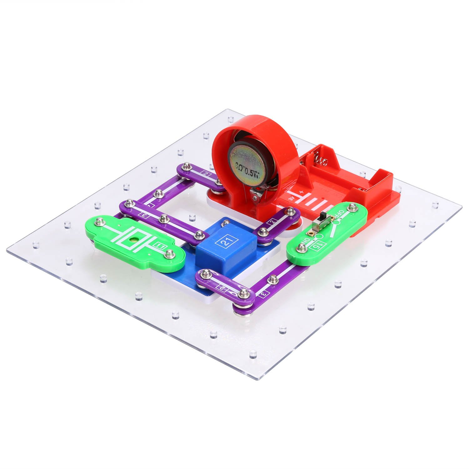 Arshiner 335 Electronics Discovery Kit Diy Electric Snap Circuits Lights Circuit Science By Elenco Block Educational Toy For Kids Toys Games