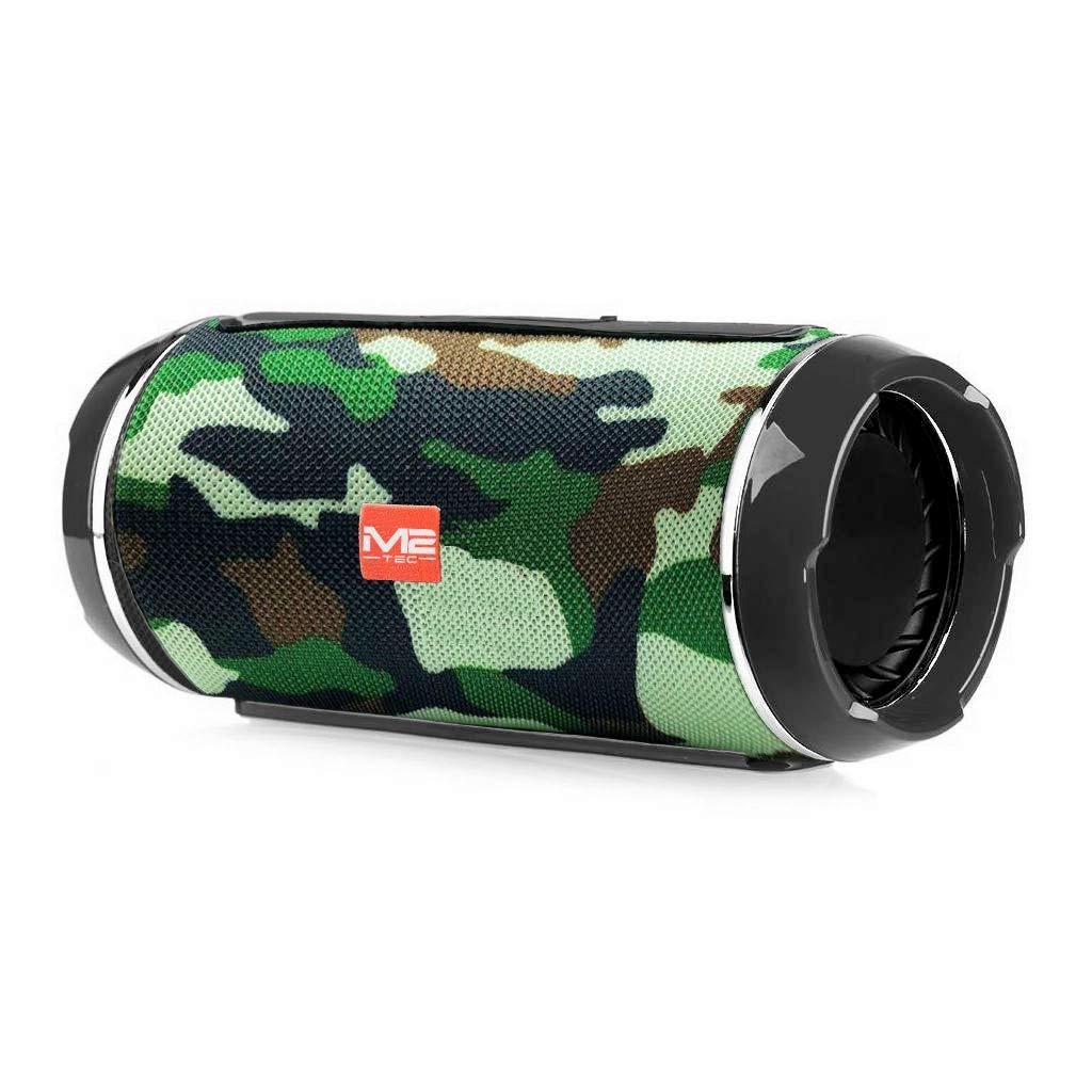 Freisprecheinrichtung M2-Tec Spritzwasserfeste Soundbox Musikbox Handybox Radio Tragbarer Bluetooth Lautsprecher Camouflage perfekt f/ür unterwegs inkl
