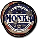 Monka Bar&Grill Family Name Neoprene Rubber Coasters - 4pcs
